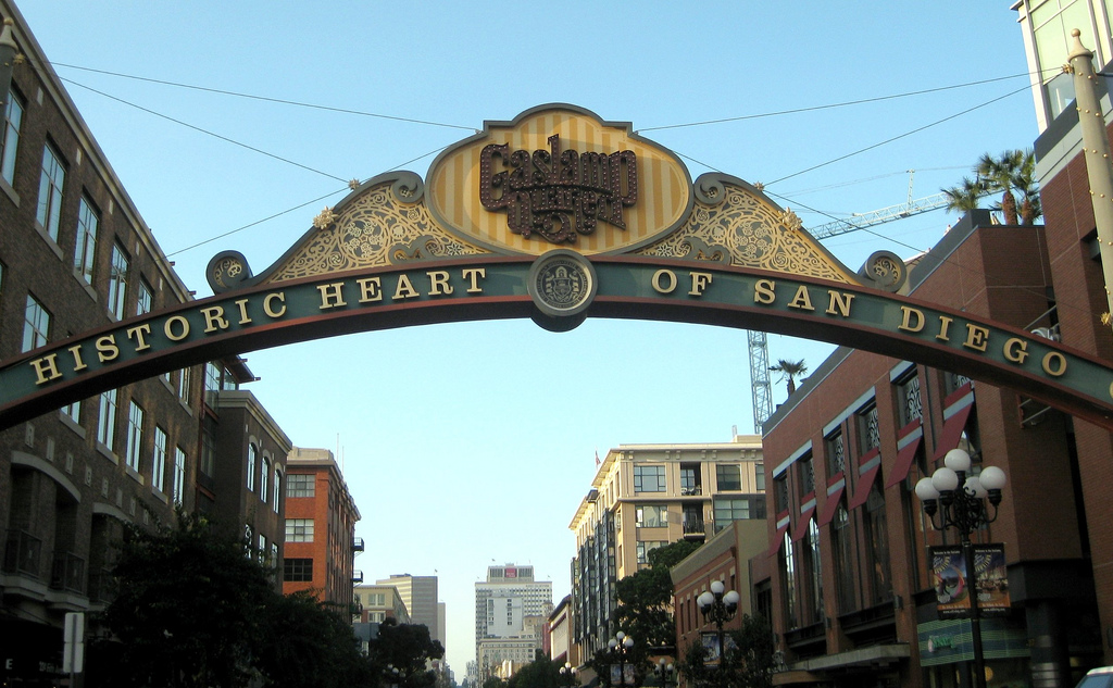 Gaslamp Quarter Sign in San Diego
